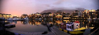 V&A Waterfront, Cape Town, South Africa by night. © 2012 Knut Dalen