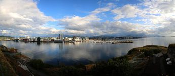 Bodø, Norway, as seen from Nyholms Skandse © 2014 Knut Dalen