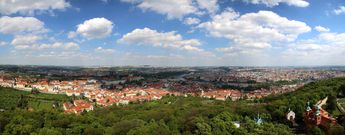 Pague, Czech Republic, as seen from the Petrin Observation Tower © 2015 Knut Dalen