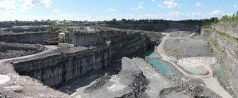 Gravel pit-Demix-Laval, qc.canada © 2016 nicole leduc