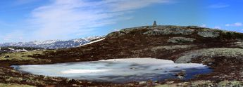 May 29th: Still some snow at Birgitstølhovda  (alt. 1225 mtrs.) © 2014 Knut Dalen