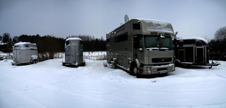 Horse trailers. Fevik, Norway © 2010 Knut Dalen