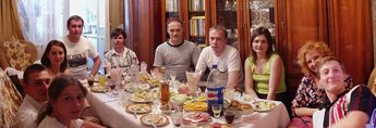 Feast on my birthday, June 2005
