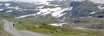 Nina mountain biking in Skarvheimen, Hallingdal, Norway. Even more mountain bikes? http://www.panoramafactory.net/gallery/interiors/IMG_3993pFactory?full=1... © 2008 Knut Dalen