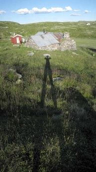 My shadow. Birgitstølen, Hallingdal, Norway. 