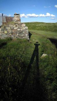 My shadow. Birgitstølen, Hallingdal, Norway © 2008 Knut Dalen