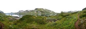 Nina hiking. Jotunheimen, Norway. © 2015 Knut Dalen