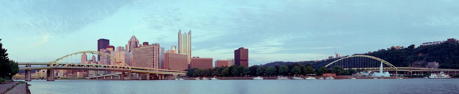 The Fort Duquesne and Fort Pitt Bridges © 2000 John Strait